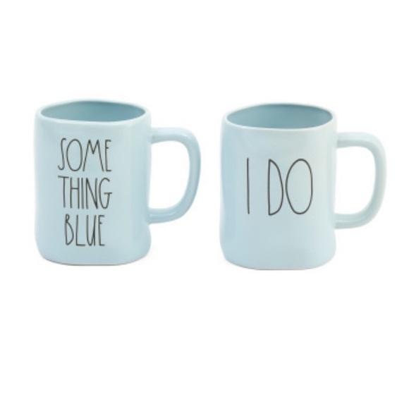 NWT Rae Dunn I do & something blue mugs